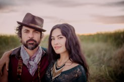 Malia + Jeffrey Portraits - Woodward Reservoir, California - Helena and Laurent
